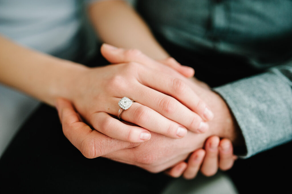 alliance en diamant mariage